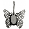 Filigree Earring setting 26x27mm Butterfly Antique Silver